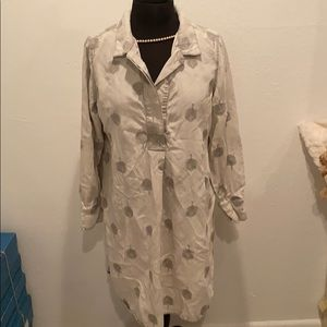 Soft Surroundings Gray Embroidered Tunic Size 1X